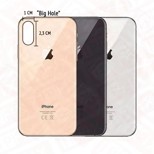 Apple iPhone X/XS Bagside Glas (BIG HOLE)