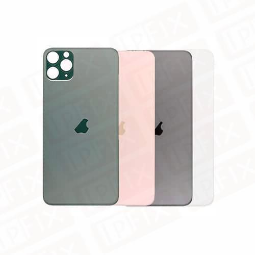 iPhone 11 Pro - Bagside Glas (BIG HOLE) (Flere Farver)