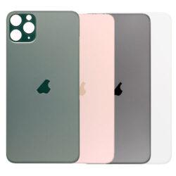 iPhone 11 Pro Max - Bagside Glas (BIG HOLE) (Flere Farver)