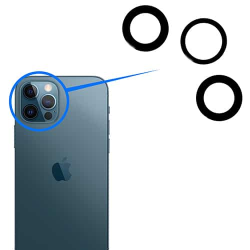 iPhone 12 Pro - Kamera Linse Glas (Sæt)