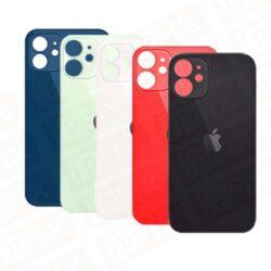 iPhone 12 - Bagside Glas (BIG HOLE) (Flere Farver)