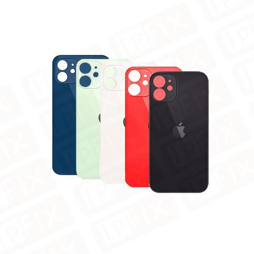 iPhone 12 Mini - Bagside Glas (BIG HOLE) (Flere Farver)
