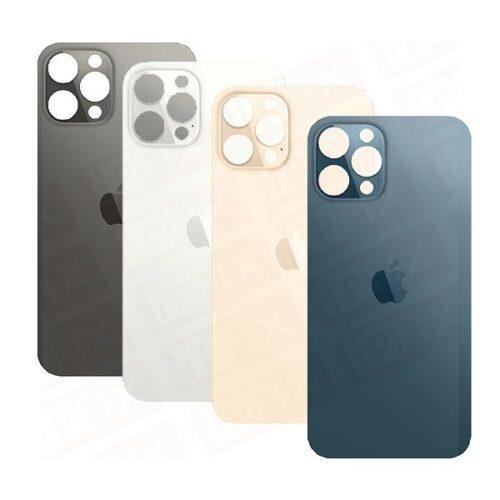 iPhone 12 Pro - Bagside Glas (BIG HOLE) (Flere Farver)
