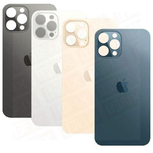 iPhone 12 Pro Max - Bagside Glas (BIG HOLE) (Flere Farver)